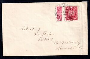 Austria 1910 10H Bisect on Postal History Cover WS20955