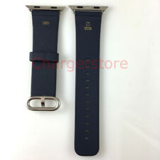 Original Apple S3 S2 Watch Band 42mm Classic Buckle leather strap Midnight Blue