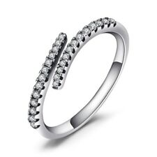 0.2Ct Round Cut VVS1/D Diamond Engagement Ring Infinity 14k White Gold Over