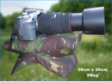 SLR Camera Bean Bag Support Tripod Photo Bird Watching Camouflage Green 26XBagGC