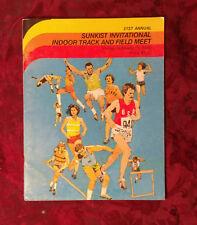 PROGRAM SUNKIST Invitational Indoor Track and Field Meet February 15 1980