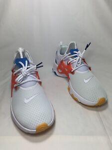 """Nike React Presto """"Breezy Thursday"""" Men's Sz 13 WHITE/HABANERO RED AV2605 100"""