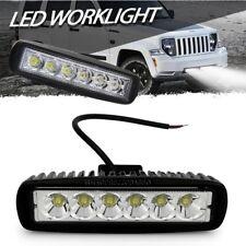 Faretto 6 led luce bianca faro supplementare per auto fuoristrada lampada 18w