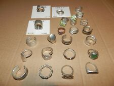 25 x Various Guess design silver tone ring NEW Various Size