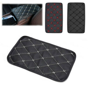 Car Auto Armrest Pad Cover Center Console Box Pu Leather Cushion Mat Accessories