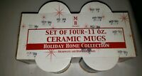 Vintage Holiday Home Collection 4 Ceramic Christmas Mugs From 2002 New Condition