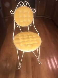 Vintage Teena Originals Boudoir Upholstered Vanity Chair