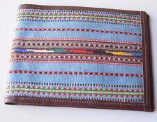 Vintage Retro Stylish Beautiful Unisex Multicolored Fabric / Faux Leather Wallet