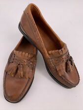 Johnston Murphy Passport Men's 8 M Brown Leather Boat Shoes Tassel Loafers