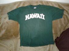 HAWAII TSHIRT GREEN HAWAII RAINBOW WARRIORS SZ.XL NAKOA TSHIRT SZ.XLRG
