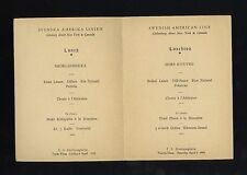 1935 TS Drottningholm Tourist Class Luncheon Menu - Swedish American Line SAL
