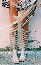 Jeffrey Campbell Izmara Festival Gladiator Sandal Punched White Size 7 MSRP $245