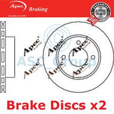 2 X Apec BRAKING 245mm Belüftet OE Qualität Ersatzteil Bremsscheiben (Paar)