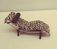 Rare Raine Take A Seat Miniature Vintage Zebra Chaise Lounge Doll Furniture
