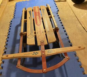 Vintage Sled (Gladding Champion Fastback) Metal Rail Sled, Great Condition!