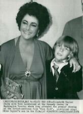 Vintage photo of Elizabeth Taylor with Todd Lookinland who is in the movie &quot