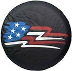 "15"" American Flag Spare Wheel Cover For Wrangler RV Camper Boat Trailer27""-29"""