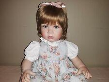 "New ListingMarie Osmond Sara Elizabeth ""Portrait Series"" Toddler 28"" Porcelain Doll Sitting"