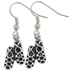 Pewter Ghillie Irish Soft Dance Shoes Earrings