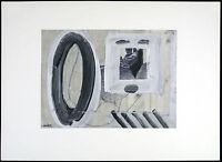 Mischtechnik (übermalte Collage) 1970 Hans GRAEDER (1919-1998 D/US) handsigniert