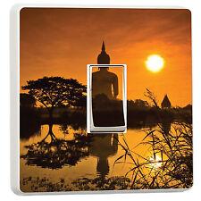 Budda statue at sunrise zen peace light switch sticker cover (14066752)