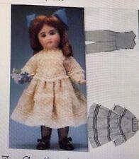 "14""-18""Antique French Bru Jumeau German Kestner Doll Dress Underwear Pattern"