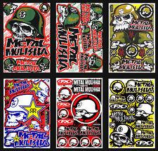6 New Metal Mulisha Sticker Motocross Bike MTB ATV Racing Moto GP Decal Sheets