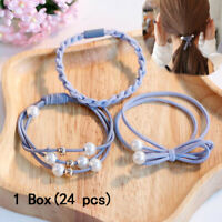24Pcs Women Girl Hair Band Ties Elastic Rope Ring Hairband Ponytail Holder Gift