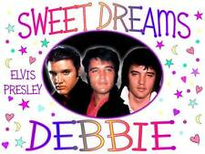 """ELVIS PRESLEY Personalized PILLOWCASE 3 Photos """"Sweet Dreams"""" Any NAME SuperSoft"""