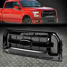 FULL REPLACEMENT FRONT UPPER BUMPER GLOSS GRILLE FENCE+MESH FOR 15-16 FORD F150