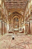 Monreale, Sicily - ITALY - Monreale Cathedral - ARTIST RENDERING POSTCARD