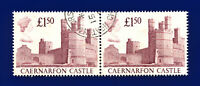 1988 SG1411 £1.50 Caernarfon Castle UK2 Pair Heaton Moor Good Used ctln