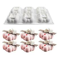 Cloud Cake Mold Food Grade Silicone 6 Cavities Square Bubble Mousse Moulds AU 1X