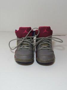 2013 Air Jordan 5 Retro (TD) Cement Grey/Pink Flash 440890-009 Toddler Sz 8.5C