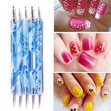 2pcs Two-way Marbleizing Dotting Manicure Dot Pen Paint Draw Pen  Nail Art Tools