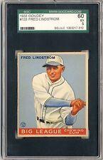 FRED LINDSTROM 1933 Goudey Gum #133 SGC 60 5 EX PITTSBURGH PIRATES HOF *