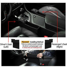 1PC For Auto Seat Storage Box PU Catcher Gap Filler Collector Cup Holder Durable