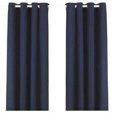 Rideaux et cantonnières bleus modernes pour la maison, en 100% coton