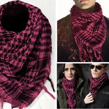 Pink/Black Striped Vintage Long Soft Cotton Scarves Fringe Shawl Wrap Scarf OS