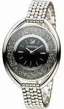 Swarovski Crystalline 1700 Crystals Oval Black Bracelet Watch 5181664