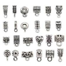 20pcs Tibetan Silver Metal Loose Spacer Charms Beads Connector Bails for Pendant