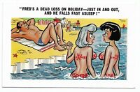 Vintage 1960's Comic Saucy Postcard SUNNY PEDRO No 109 Seaside Humour 195B