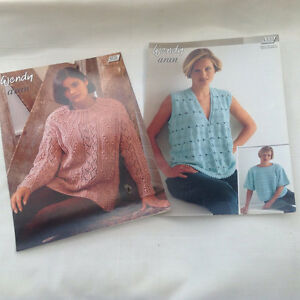 Knitting Patterns, Women's jumpers, waistcoat from Wendy