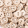 100pcs Wood 2 Holes Mixed Wooden Buttons Sewing Scrapbooking DIY Craft 8 Types