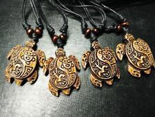 4 pcs Turtle Necklace Coqui Tribal Frog and Taino Sun Symbols Pendant