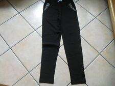 PFEFFINGER Jerseyhose mit Steinchenbesatz Gr. 38 schwarz  HSE 24