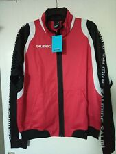 Salming running men's jacket Tracksuit Top Size Large Red BRAND NEW