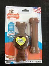 Nylabone Teething Puppy ~ Wolf Ring & Flexi Bone Puppy Chew Toy ~ Chicken Flavor