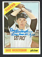 Dave Wickersham #58 signed autograph auto 1966 Topps Baseball Trading Card
