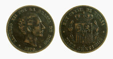 pci3843)  SPAGNA SPAIN 10 Centimos 1878 OM ( bronze)